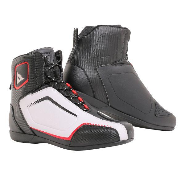 Chaussures Moto Dainese Raptors Air Black White Lava Red