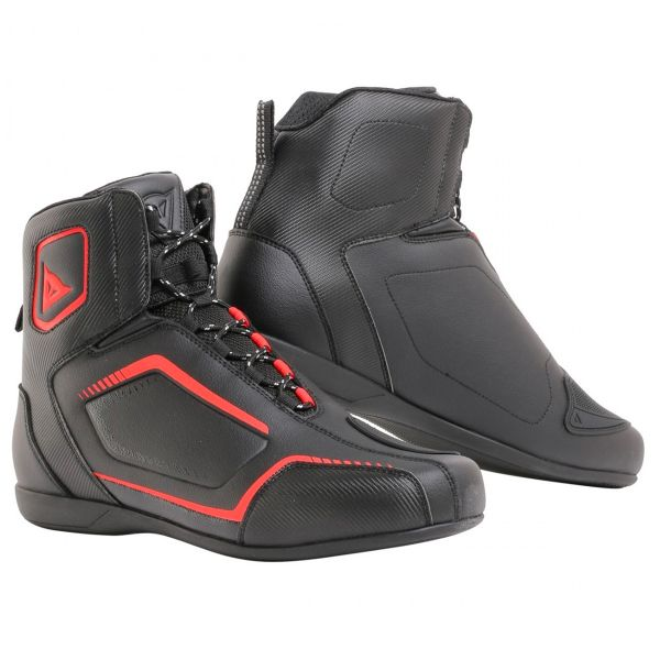 Chaussures Moto Dainese Raptors Black Fluo Red