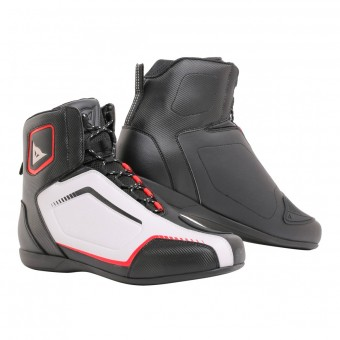 Chaussures Moto Dainese Raptors Black White Lava Red