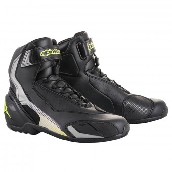 Chaussures Moto Alpinestars SP-1 V2 Black Silver Yellow Fluo