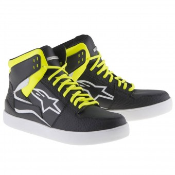 Baskets Moto Alpinestars Stadium Black Yellow Fluo Red