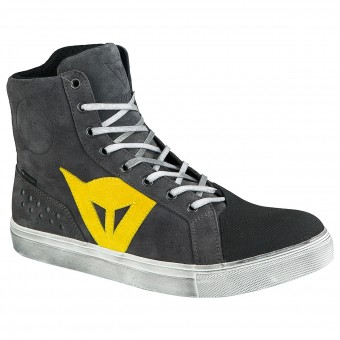 Chaussures Moto Dainese Street Biker D-WP Anthracite Yellow