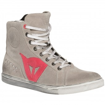Chaussures Moto Dainese Street Biker Lady Air Grey Coral