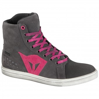 Chaussures Moto Dainese Street Biker Lady D-WP Anthracite Fuschia