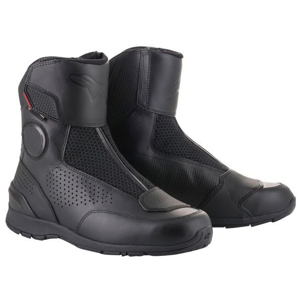 demi bottes moto alpinestars portland gore tex black au meilleur prix. Black Bedroom Furniture Sets. Home Design Ideas