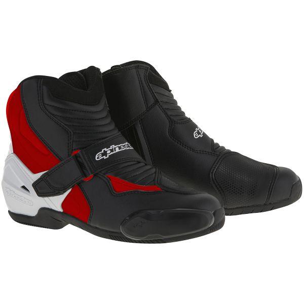 Demi-bottes Alpinestars SMX-1 R Black White Red
