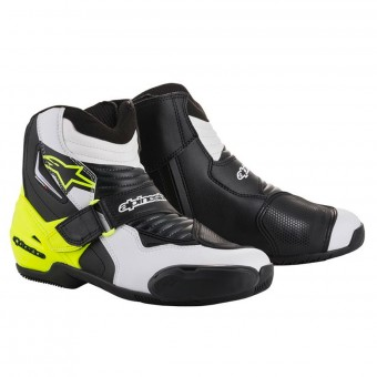 Demi-bottes Alpinestars SMX-1 R Black White Yellow Fluo