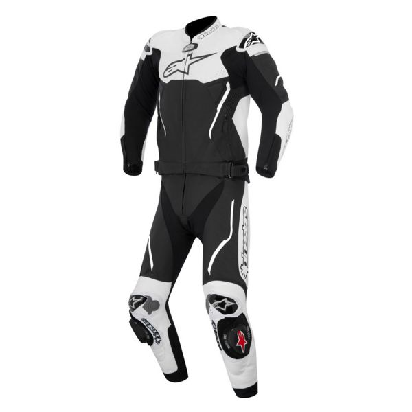 combinaison moto cuir alpinestars atem v3 suit 2 pc black white en stock. Black Bedroom Furniture Sets. Home Design Ideas