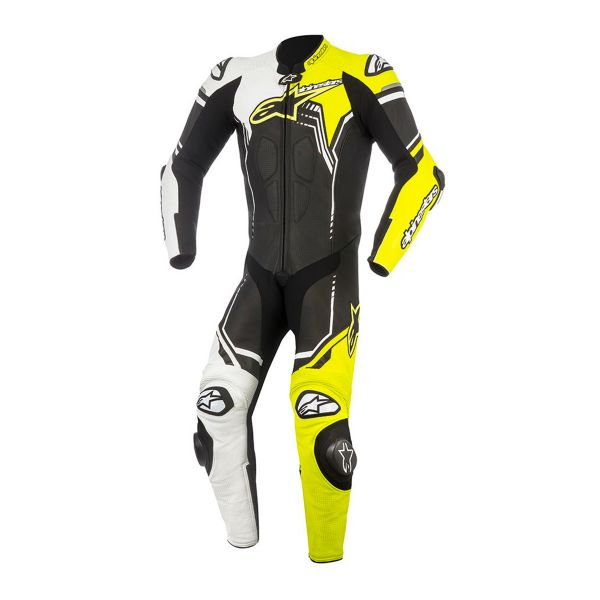 combinaison moto cuir alpinestars gp plus v2 suit black white yellow fluo au meilleur prix. Black Bedroom Furniture Sets. Home Design Ideas
