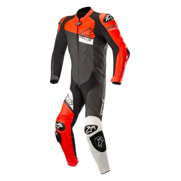 combinaison moto cuir alpinestars gp plus v2 venom black red fluo white en stock. Black Bedroom Furniture Sets. Home Design Ideas