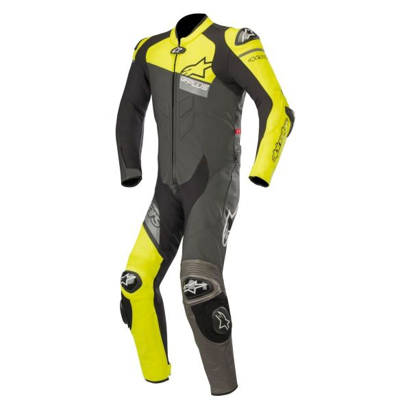 combinaison moto cuir alpinestars gp plus v2 venom black yellow fluo grey au meilleur prix. Black Bedroom Furniture Sets. Home Design Ideas