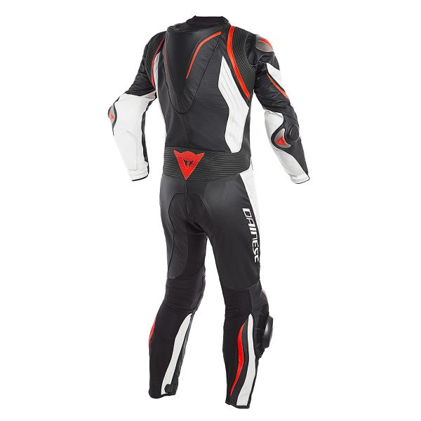 Dainese Kyalami 1PC Perforated Black White Fluo Red