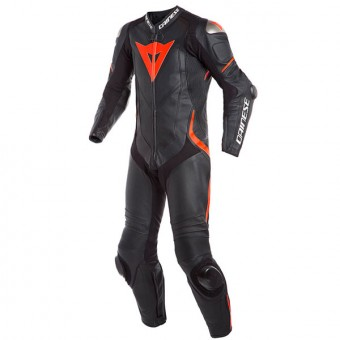 Combinaison Moto Cuir Dainese Laguna Seca 4 1PC Perforated Black Fluo Red