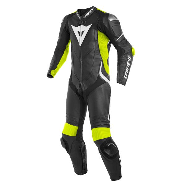 Combinaison Moto Cuir Dainese Laguna Seca 4 1PC Perforated Black Fluo Yellow