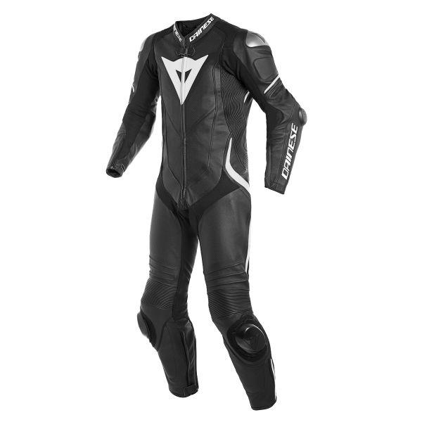 Combinaison Moto Cuir Dainese Laguna Seca 4 1PC Perforated Black White