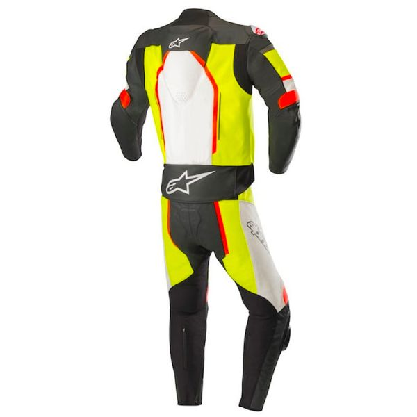 Alpinestars Motegi V2 2PC Black White Yellow Fluo Red