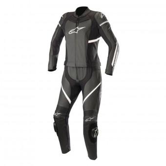 Alpinestars Blouson moto Missile Leather Jacket Tech-air Compatible Black White Air Noir//Blanc 48