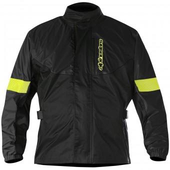 veste alpinestars hurricane rain jacket black yellow fluo en stock. Black Bedroom Furniture Sets. Home Design Ideas