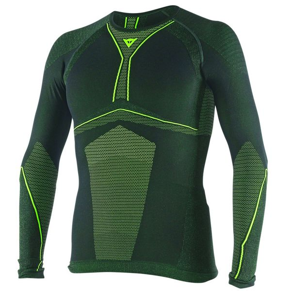 Maillot Froid Dainese D-Core Dry Tee LS Black Yellow