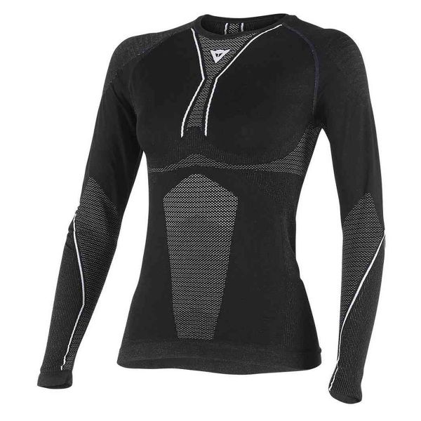 Maillot Froid Dainese D-Core Dry Tee LS Lady Black White