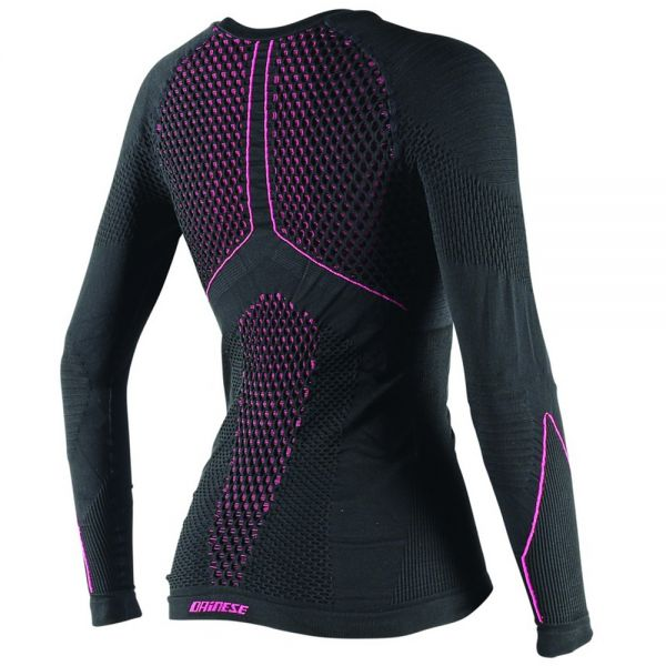 Dainese D-Core Thermo Tee LS Lady Black Pink