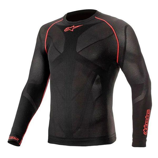 Maillot Froid Alpinestars Ride Tech V2 Top Long Sleeve Summer Black Red