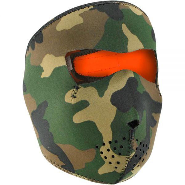 Masque Zanheadgear Woodland Camo Reversible Orange