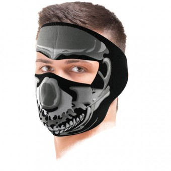 Masque Zanheadgear Chrome Skull Mask