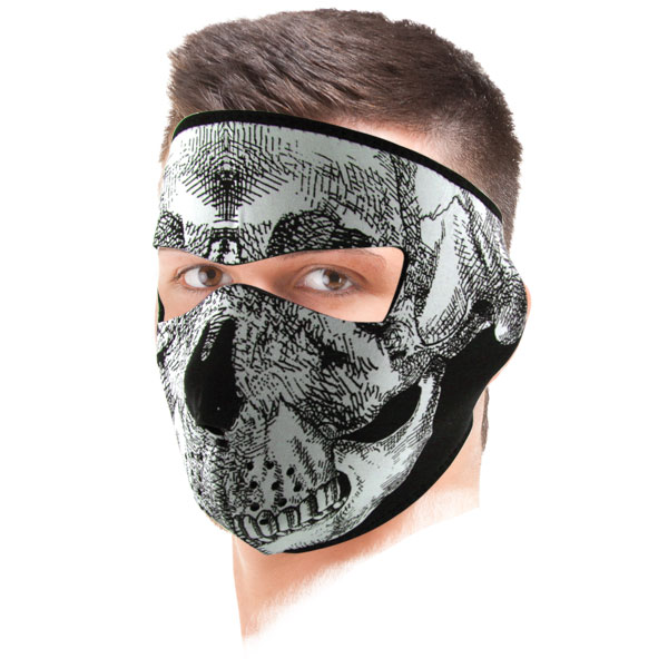 Masque Zanheadgear Black White Skull