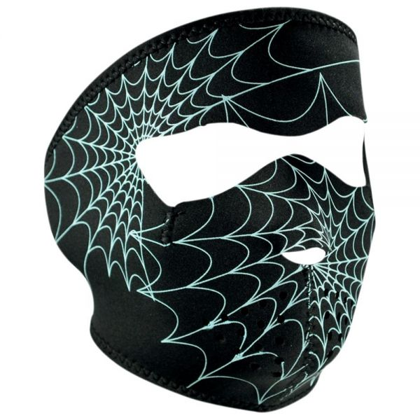 Masque Zanheadgear Spiderweb Glow In The Dark