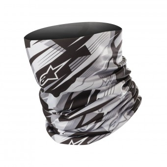 Tours De Cou Moto Alpinestars Blurred Neck Tube Noir Anthracite