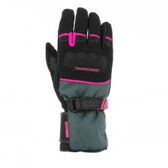 Gants Moto V'Quattro Active Lady 17 Black Pink