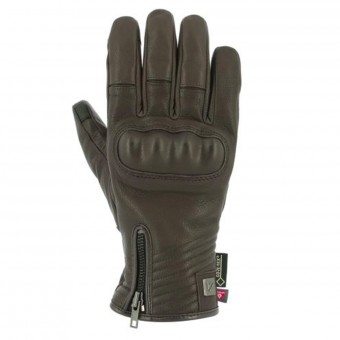 Gants Moto V'Quattro Cafe Racer Gore-Tex Brown