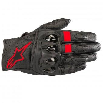 Gants Moto Alpinestars Celer V2 Leather Black Red Fluo