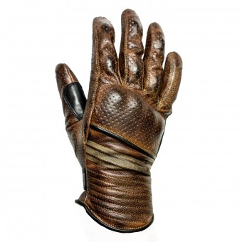 Gants Moto Helstons Corporate Perfore Camel Noir