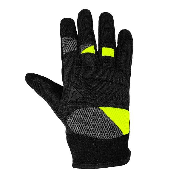 Gants Moto Dainese Fogal Unisex Black Yellow Fluo