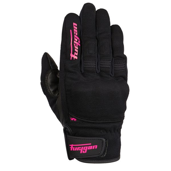 Gants Moto Furygan Jet Lady D3O Black Pink
