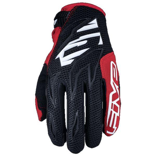 Gants Moto Five MXF3 Noir Blanc Rouge