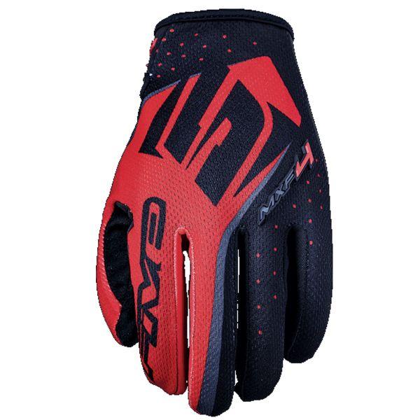 Gants Moto Five MXF4 Noir Rouge