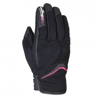 Gants Moto Furygan Oksi Lady D3O Black Pink