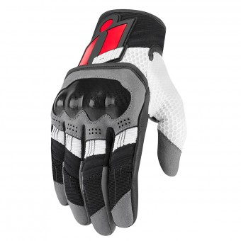 Gants Moto ICON Overlord Rouge