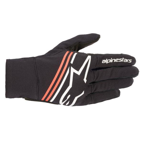 Gants Moto Alpinestars Reef Black White Red Fluo