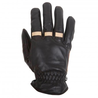 Gants Moto Helstons Velvet Winter Black Beige