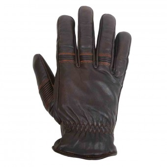 Gants Moto Helstons Velvet Winter Brown Black