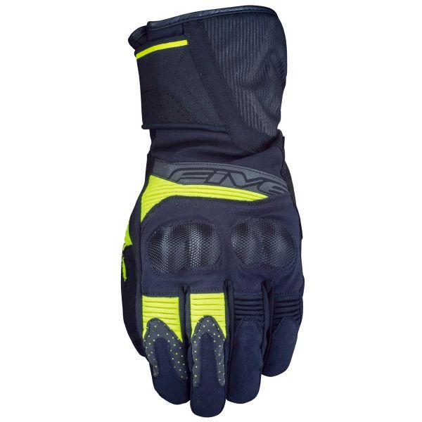 Gants Moto Five WFX2 WP Black Fluo Yellow