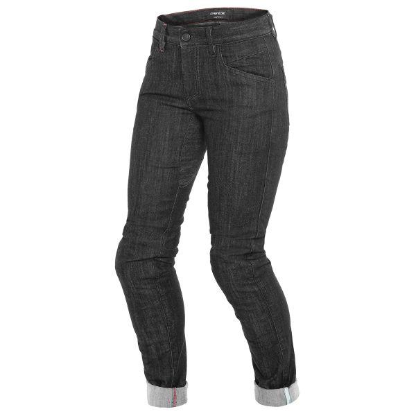 Jeans Moto Dainese Alba Slim Lady Jeans Black Rinsed