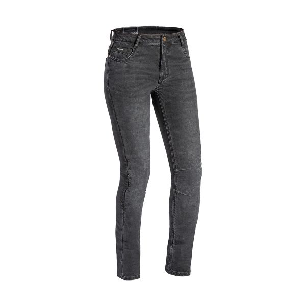 Jeans Moto Ixon Cathelyn Anthracite Femme