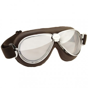 Masque Moto Nannini TT Chrome Brown