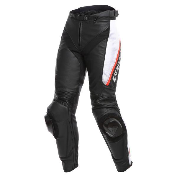 Pantalon Moto Dainese Delta 3 Black White Red