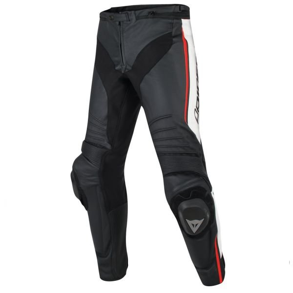 Pantalon Moto Dainese Misano Black White Red Fluo